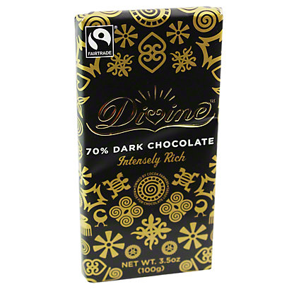 Divine 70% Dark Chocolate Bar,3.5 OZ
