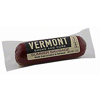 Vermont Smoke and Cure Summer Sausage, 7 OZ