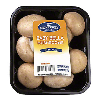 Fresh Gourmet Baby Bella Mushrooms, 8 oz