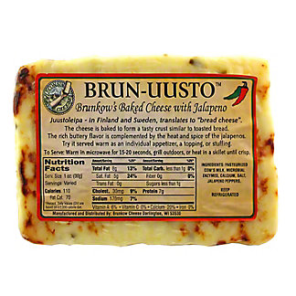 Brun-Uusto Brunkow's Baked Cheese with Jalapeno,LB