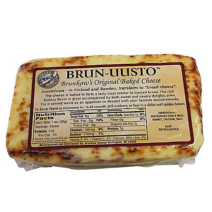 Brunkow's Brun-Uusto Original Baked Cheese,sold by the pound