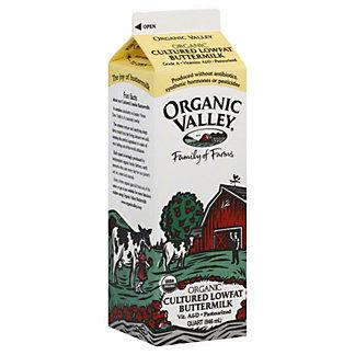 ORGANIC VALLEY Buttermilk, Cultured, Lowfat, 1 quart