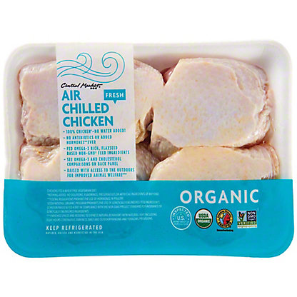 Central Market Organic Air Chilled Bone In Chicken Thighs