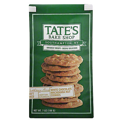 Tate's Bake Shop White Chocolate Chip Macadamia Nut Cookies, 7 oz