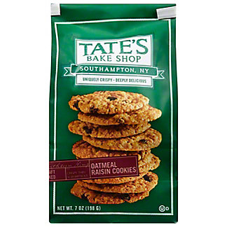 Tate's Bake Shop Oatmeal Raisin Cookies, 7 oz