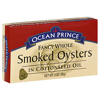 Ocean Prince Fancy Whole Smoked Oysters,3 OZ