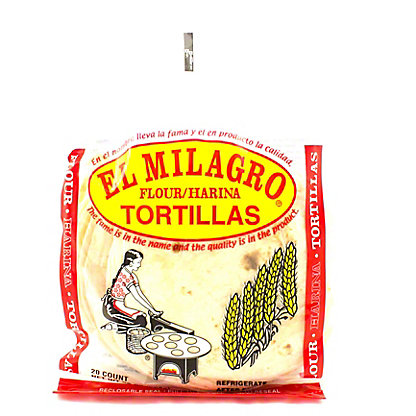 El Milagro Flour Tortillas,20 CT