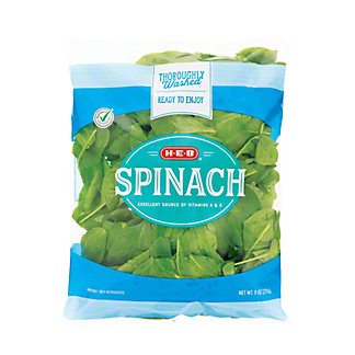 H-E-B Spinach, 9.00 oz