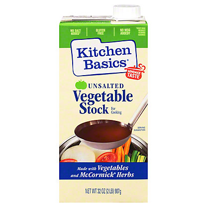 Kitchen Basics Unsalted Vegetable Cooking Stock, 32 oz