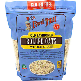 Bob's Red Mill Gluten Free Old Fashioned Rolled Oats, 32 oz