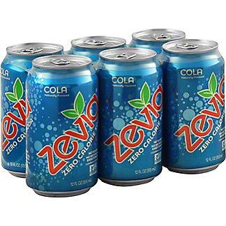 Zevia Cola 6 PK Cans, 12 oz