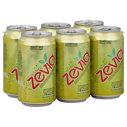 Zevia Lemon Lime Twist Soda 6 PK Cans,12 OZ