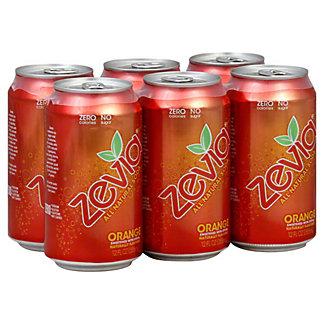 Zevia Orange Soda 6 PK Cans,12 OZ