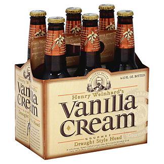 Henry Weinhard's Vanilla Cream Soda 6 PK Bottles,12 OZ