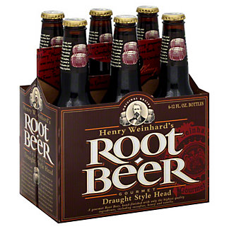 Henry Weinhard's Root Beer 6 PK Bottles,12 OZ
