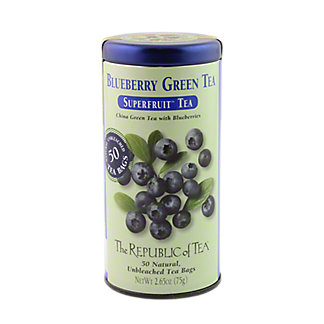 The Republic of Tea Blueberry Green Tea Bags, 50 ct