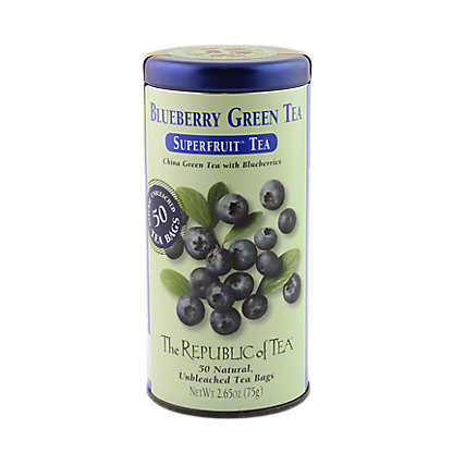 The Republic of Tea Blueberry Green Tea Bags, 50 ct