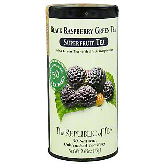 The Republic of Tea Black Raspberry Green Tea Bags, 50 ct