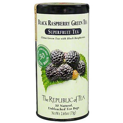 The Republic of Tea Black Raspberry Green Tea Bags, 50 ct