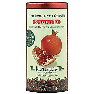 The Republic of Tea Decaf Pomegranate Green Tea Bags,50 CT