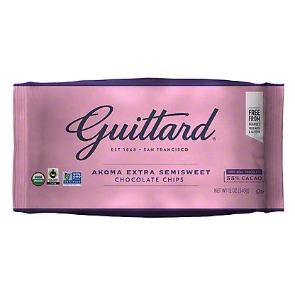 Guittard Akoma Extra Semi Sweet Chocolate Chips, 12 oz