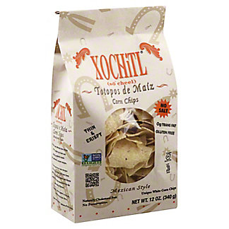 Xochitl Mexican Style No Salt Corn Chips, 12 oz