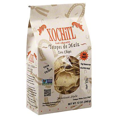 Xochitl Mexican Style No Salt Corn Chips, 12 oz