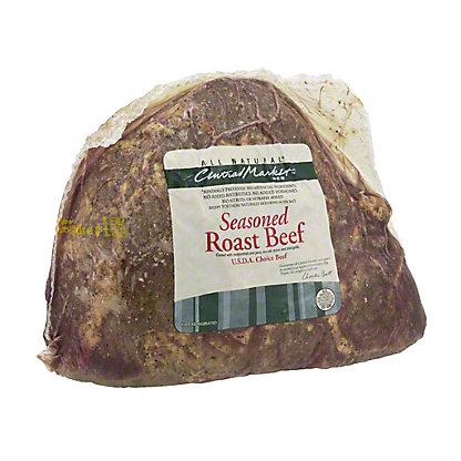 Central Market Natural Seasoned Roast Beef,sold by the pound