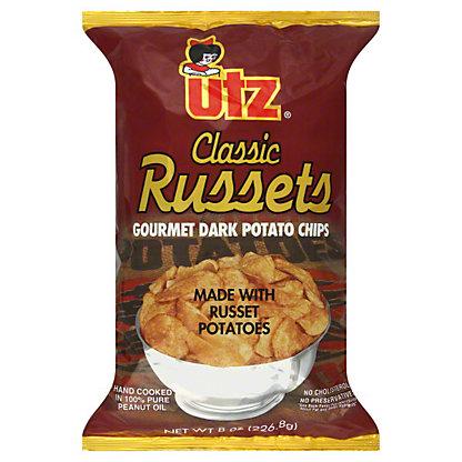 Utz Classic Russets Gourmet Dark Potato Chips, 8.00 oz