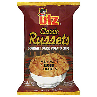 Utz Classic Russets Gourmet Dark Potato Chips, 8.00 oz