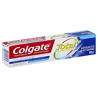 Colgate Total Advanced Whitening Anticavity Fluoride & Antigingivitis Toothpaste, 5.8 oz