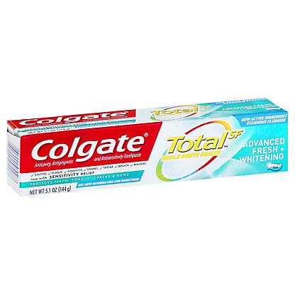 Colgate Total Advanced Fresh + Whitening Anticavity Fluoride & Antigingivitis Toothpaste, 5.8 oz