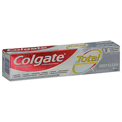 Colgate Total Advanced Deep Clean Anticavity Fluoride & Antigingivitis Toothpaste, 5.8 oz