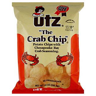 Utz The Crab Chip,10 OZ