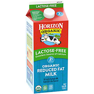 Horizon Organic Lactose-Free Reduced Fat 2% Milk, 1/2 gal