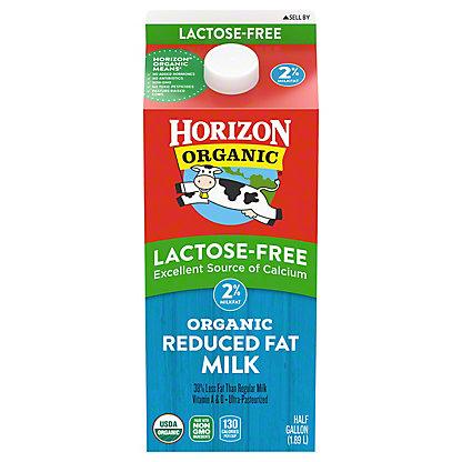 Horizon Organic Lactose-Free Reduced Fat 2% Milk, 1/2 gal