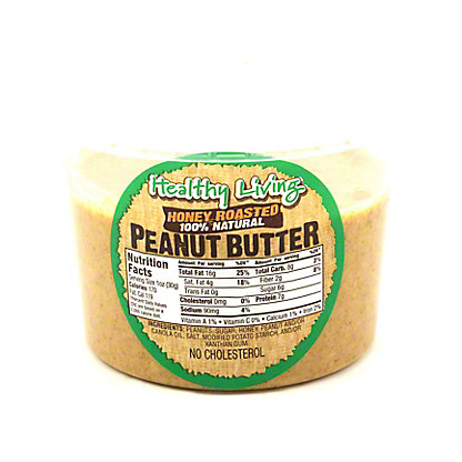 Hampton Farms Healthy Living Honey Roasted Peanut Butter,16 OZ