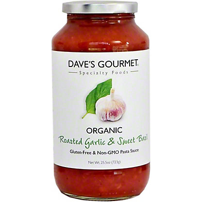Dave's Gourmet Roasted Garlic & Sweet Basil Organic Pasta Sauce,25.5 oz