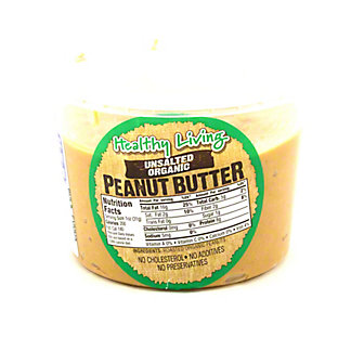 Hampton Farms Healthy Living Unsalted Organic Peanut Butter,16 OZ