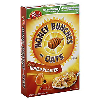 Post Honey Bunches of Oats Cereal Honey Roasted Family Size, 18 oz