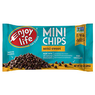 Enjoy Life Gluten Free Allergy Friendly Semi-Sweet Chocolate Mini Chips, 10 oz