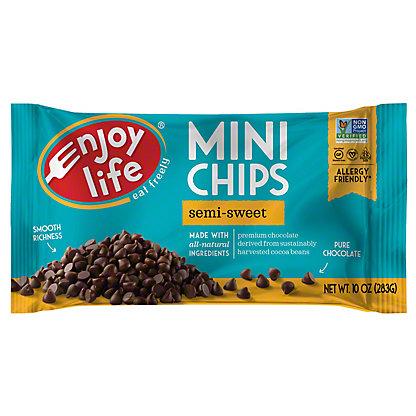 Enjoy Life Gluten Free Allergy Friendly Semi-Sweet Chocolate Mini Chips, 10 oz