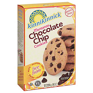 Kinnikinnick Foods Montana's Chocolate Chip Cookies,8 OZ