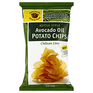 Good Health Chilean Lime Avocado Oil Potato Chips,5 oz (141.7 g)
