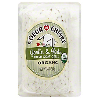 Coeur De Chevre Organic Garlic Herb Fresh Goat Cheese,4 OZ