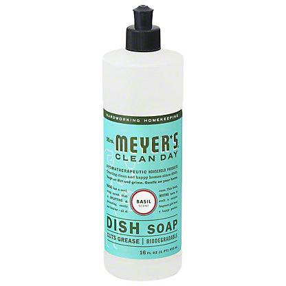 Mrs. Meyer's Clean Day Liquid Dish Soap, Basil,16 OZ