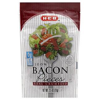 H-E-B 100% Real Crumbled Bacon Pieces,2.5 OZ