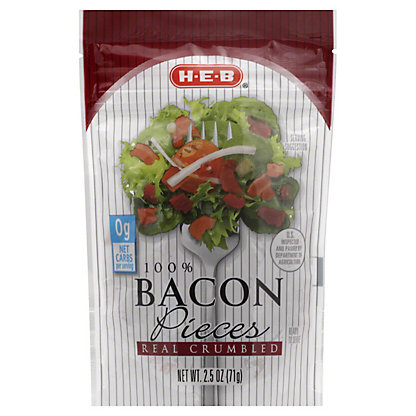 H-E-B 100% Real Crumbled Bacon Pieces,2.5 OZ