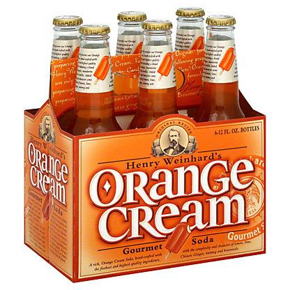Henry Weinhard's Orange Cream Gourmet Soda 6 PK Bottles,12 OZ