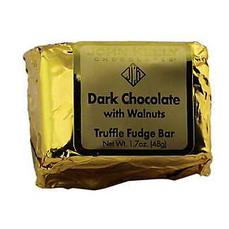 JOHN KELLY CHOCOLATES John Kelly Truffle Fudge Dark Chocolate with Walnuts,1.7OZ